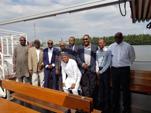 Anagu consulting on a training with Nigerian Shipper council in Hamburg.On the picture is CEO Nigeria shipping council Mr Bello and group