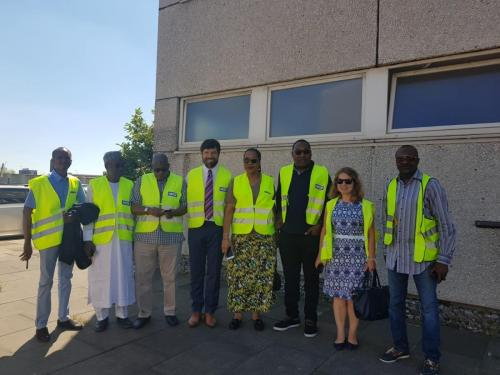 Anagu consulting on a visit to Hamburg Port with the group from Nigerian Shippers council