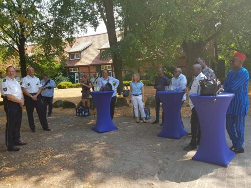Anagu consulting on a visit to German Highway police with delegates from Nigeria
