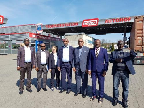 Anagu consulting with Senate committee on Land transport on a visit to German Truck Parks