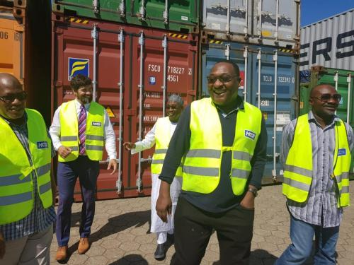 Anagu consulting on a visit to Container Terminals with Nigerian Shippers council