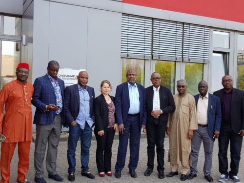 Anagu consulting with Nigerian Senators after a seminar